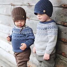 Ludvig genser pattern by Hanne Anreassen Hjelmas; Barn, Crochet Hats, Patterns, Knitting, Fashion, Loom Knit, Kid, Knitting Hats, Block Prints