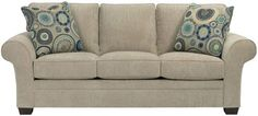 Broyhill Furniture - Zachary Affinity Chenille Fabric Sofa in Beige- 7902-3Q1-8785-93-Beige
