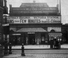 Victoria Underground Station.