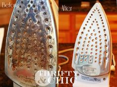 You can make a dirty iron soleplate look like new again with the help of vinegar or baking soda.