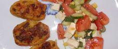Recept Zapékané plněné brambory se zeleninovým salátem Muesli, Baked Potato, Potatoes, Baking, Ethnic Recipes, Food, Granola, Potato, Bakken