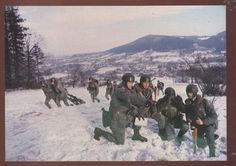 Polish people's army during winter war games