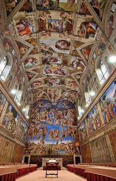 Will see The Sistine Chapel, Italy.. this is so breathtaking! !!! It was amazing to see it in person. Though the room was a little smaller than I imagined it to be.