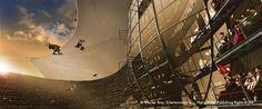 Harry Potter Concept Art, Quidditch World Cup Stadium Box