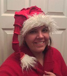 Recycled Sweater Santa Hat XL by Aunty Em with by CraftedByAuntyEm