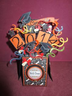 Moshie's Moments Pop up box card Graduation cards.