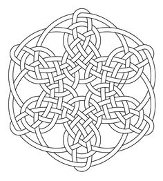 Celtic knot-work hexagonal by Peter Mulkers
