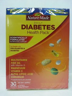 Nature Made Diabetes Health Pack with Lutein, Multivitamin and Minerals, 30 Packets (Pack of 2) Nature Made, #diabetes #diabetic #insulin http://www.amazon.com/dp/B001G7QW4O/ref=cm_sw_r_pi_dp_D.Zbtb16B04Z1NK4