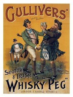 AP1544 - Gullivers Irish And Scotch Whisky, Artsit: Arthur Pennial, Drinks Poster, 1890s (30x40cm Art Print)