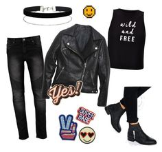 biker babe by afrodille-by-andreea on Polyvore featuring Miss Selfridge, Relaxfeel, ASOS and Anya Hindmarch