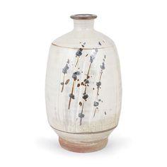 Jim Malone : (British, b. 1946), Stoneware bottle vase, 'hakame' glaze