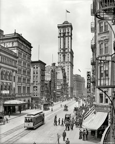broadway new york city 1915 | 1915 Broadway and Times Building