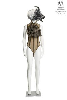"""Jean Paul Gaultier - costume for a Goat in """"A la Rochelle, il n'y a pas que des pucelles"""" - ballet from Régine Chopinot, Maison de la culture de la Rochelle, 1986"""