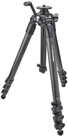 Manfrotto MT057C4-G 057 Carbon Fiber 4 Section Tripod with Geared Center Column *** Find out more about the great product at the image link.