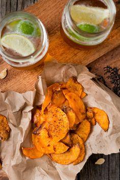 Kürbis-Chips mit Fleur de Sel & Chili