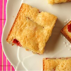 Strawberry White Chocolate Brownies