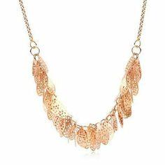 Multileaf golden necklace.