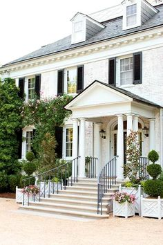 Updating A Dated Colonial Exterior Porticos