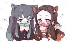 《Kimetsu no Yaiba》 Fanart Anime Ai, Anime Angel, Anime Demon, Anime Chibi, Manga Anime, Demon Slayer, Slayer Anime, Anime Girl Neko, Kawaii Anime