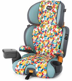Chicco Kidfit Zip 2-in-1 Belt Positioning Booster Car Seat - Blu