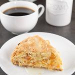 These Apricot Scones are super moist, with a pop of apricot in every bite and drizzled with a sweet sugar glaze that will make your mouth water. Scone Recipe With Sour Cream, Apricot Scones Recipe, Apricot Recipes, Cod Recipes, Baking Recipes, Breakfast Carbs, Vegan Breakfast, Recipe Using Dried Apricots, Dried Peaches