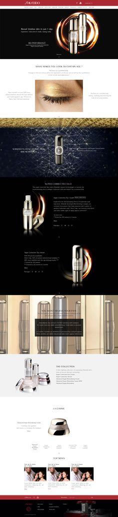"""Direction Artistique & Création d'un mini-site """"Bio Performance"""" en Responsive Design avec Parallaxe pour la marque """"Shiseido"""". #WebDesign #Luxe #UX Design"""