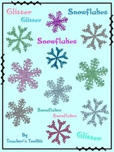 This little freebie would be perfect for those little 'accents' you sometimes need to add to your winter product cover pages.  This ZIP file contains the following:  Glitter Snowflakes x 10 PNGs  I hope you might find them useful!  Also includes TOU/Credit/Button/Cover
