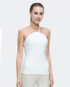6681ac6d73 Fitness Women Sleeveless Shirts Jogging Vest Gym Sports Running Clothes  Tight Yoga Top with Breathable Quick Dry Spandex