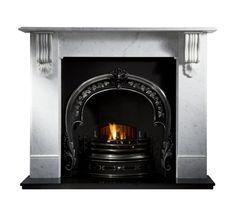 Kingston Victorian Corbel Limestone or Marble Fireplace Surround Mantel