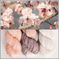 APRICOT BLOSSOM HUES ALPACA SILK DK yarn by expression fiber arts