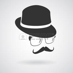 シルエット素材。帽子のイラストのアイデア