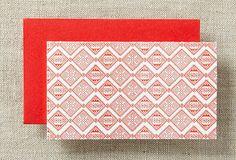 S/12 Aztec Mini Cards, Red on OneKingsLane.com