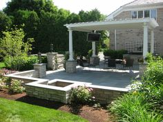 this backyard paradise is the entertainers dream the expansive patio area includes a built