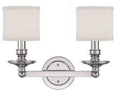 2 Light Vanity Fixture - modern - bathroom lighting and vanity lighting - EliteFixtures.com