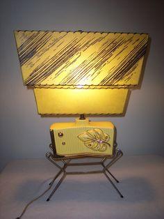 Fabulous 1950's Mid Century Modern Eames Era Atomic Lamp 2 Tier Fiberglass Shade | eBay