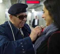 Bill Reid has been singing at Burlington's Appleby GO train station for 26 years.