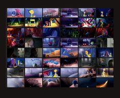Making of & Color Script - Inside Out Animation Portfolio, Animation Storyboard, Animation Series, Color Script, Pixar Character Design, Pixar Concept Art, Pixar Characters, Pixar Movies, Animation Background