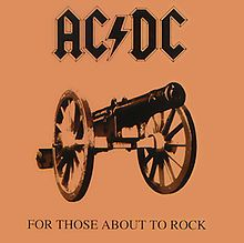 AC/DC - For Those About To Rock - Released November 23, 1981. (Saw them at the Cow Palace, San Francisco, CA. Stood for hours outside in the pouring cold rain. I was sick for a week afterward. Great show though!)