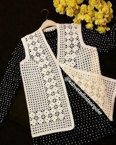Likes, 44 Comments - Fat Crochet Hot Pads, Crochet Coat, Crochet Jacket, Crochet Blouse, Crochet Baby, Crochet Blanket Edging, Filet Crochet, Crochet Stitches, Crochet Motif