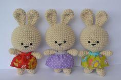 Cute Easter Bunny Girls -  Free Crochet Pattern