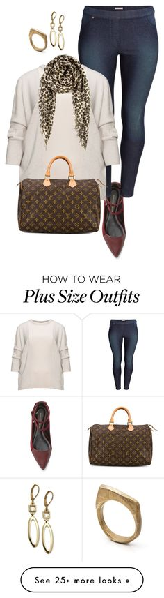 """""""plus size all about the flats/ simple datenight"""" by kristie-payne on Polyvore featuring мода, Rebecca Minkoff, H&M, Louis Vuitton, T Tahari, Chan Luu и by / natalie frigo"""