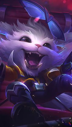 League of legends, Gnar, happy warrior, wallpaper Champions League Of Legends, League Of Legends Characters, Lol League Of Legends, Ahri Wallpaper, Game Character, Character Design, Mobile Legend Wallpaper, Me Anime, Amazing Drawings