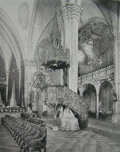 The pulpit at Santo domingo Church Intramuros, Manila before WW2
