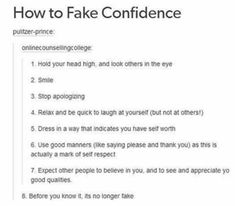 For those of you with trouble in self confidence. ☺ For those of you with trouble in self confidence. Life Advice, Good Advice, Inspirer Les Gens, Quotes To Live By, Life Quotes, Friend Quotes, Happy Quotes, Quotes Quotes, Teen Stuff