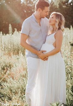 Open Back Backless White Maternity Gown Baby Shower Dress | Etsy