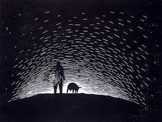 untitled lino-cut.... by hero artist, via Flickr