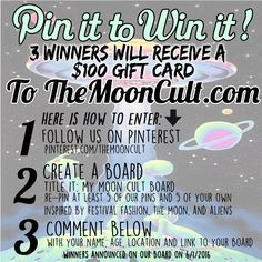 Pin It To Win It! – The Moon Cult