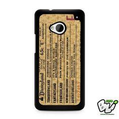 Disneyland E Ticket Brown HTC G21,HTC ONE X,HTC ONE S,HTC M7,M8,M8 Mini,M9,M9 Plus,HTC Desire Case