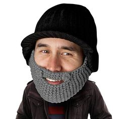 b90eb9c1f23 Beard Head Stubble Rider Beard Beanie - Funny Knit Hat w Fake Beard  Facemask Review
