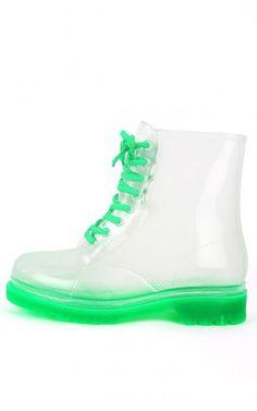 Clear Green Jelly Boots Pinterest: Princess Kiara
